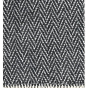 Koc Iida Wool 130x210 Czarno-Biały