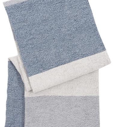 Ręcznik Terva 65x130 Biało-Muti-Niebieski