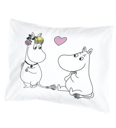 Poszewka na poduszkę 55x65 cm Moomintroll and Snorkmaiden