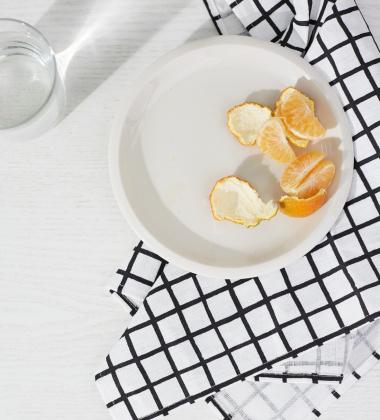 Ścierka kuchenna Grid 47x70 Biało-Czarna