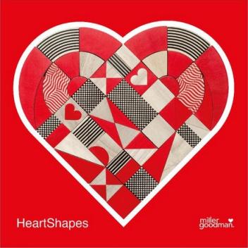 Układanka HeartShapes Set of 50 pcs