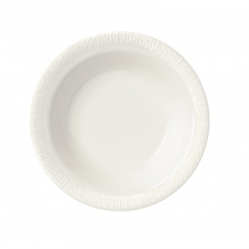 Talerz głęboki Sarjaton Deep Letti  22 cm Biały