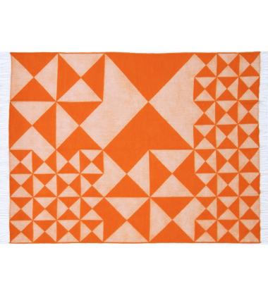 Koc VP Mirror 130x190 Pomarańczowy