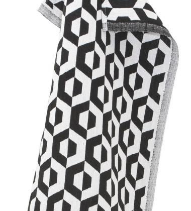 Ścierka kuchenna Hexamo 48x70 Czarna