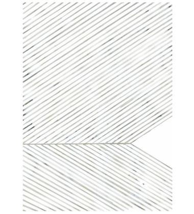Leaf Lines Art Print Poster 50x70 Green