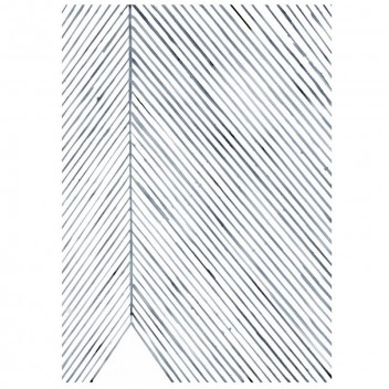 Leaf Lines Art Print Poster 50x70 Blue