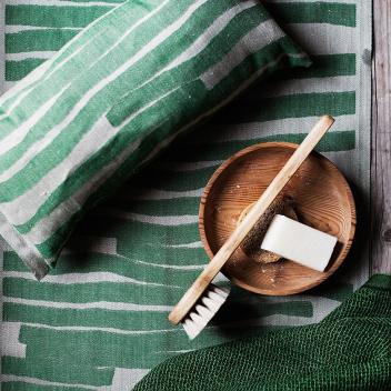 Bieżnik do sauny Twisti 46x150 Lniano-Zielony
