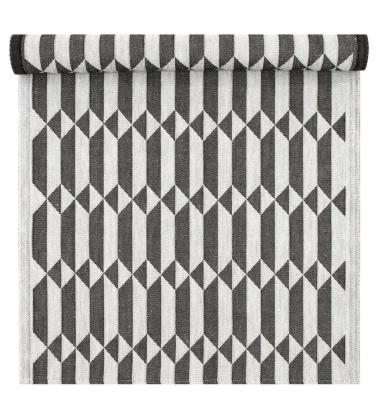 Bieżnik do sauny HILA 46x150 Czarno-Biały