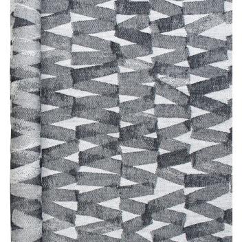 Bieżnik do sauny Pare 46x150 Czarno-Biały