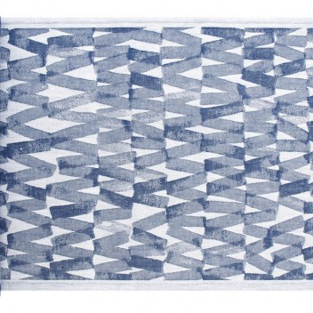 Bieżnik do sauny Pare 46x150 Niebiesko-Biały