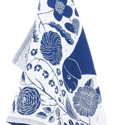 Ścierka kuchenna Koira Ja Kissa 48x70 Biało-Niebieska