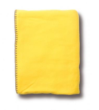 Koc polarowy Chilli Kids 130x170 Żółty