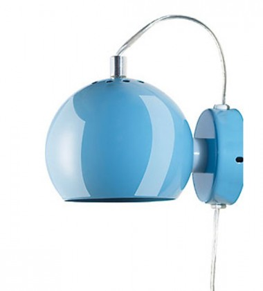 Lampa ścienna Ball Wall 12 cm Błękitna Połysk