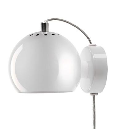 Lampa ścienna Ball Wall 12 cm Biała Połysk