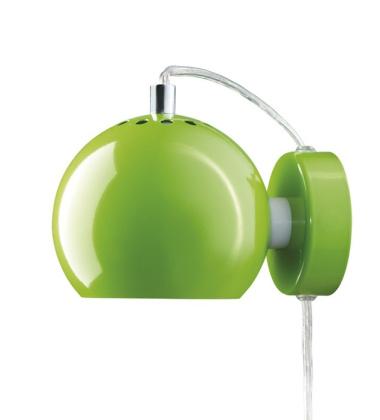 Lampa ścienna Ball Wall 12 cm Zielona Połysk