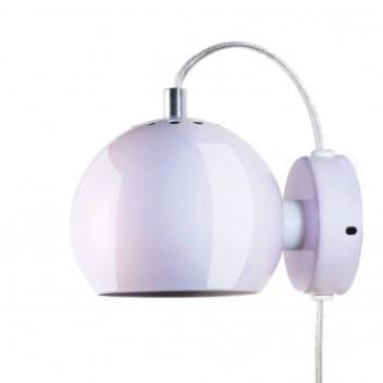 Lampa ścienna Ball Wall 12 cm Jasny Róż Połysk