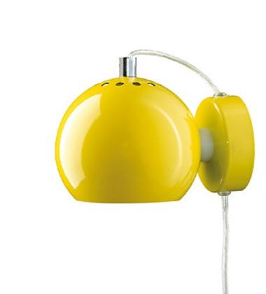 Lampa ścienna Ball Wall 12 cm Żółta Połysk