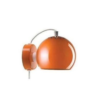 Lampa ścienna Ball Wall 12 cm Pomarańczowa Połysk