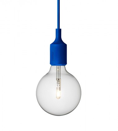 Lampa wisząca E27 Bulb Niebieska