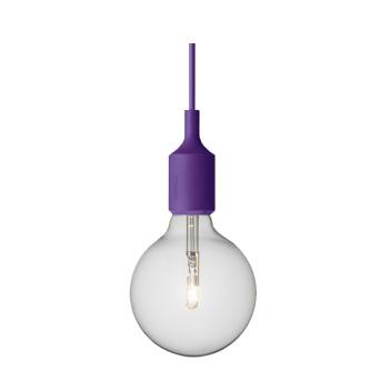 Lampa wisząca E27 Bulb Purpurowa