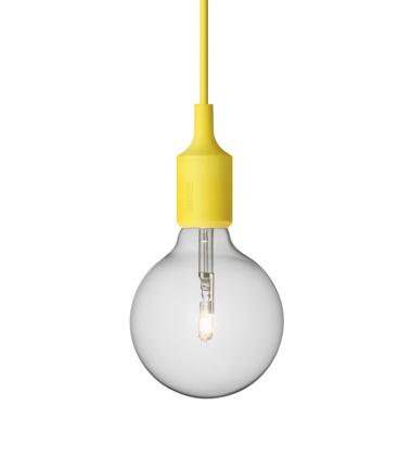 Lampa wisząca E27 Bulb Żółta