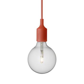 Lampa wisząca E27 Bulb Czerwona