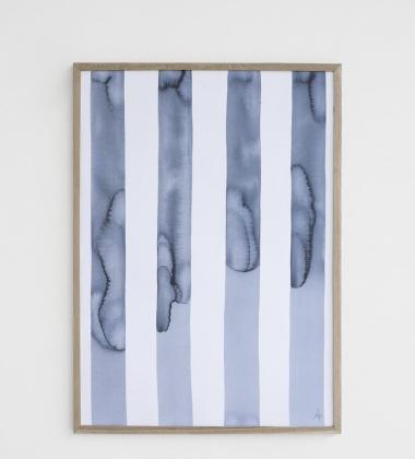 Silent Art Print Poster 50x70 Blue