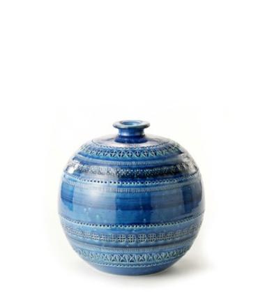 Waza Rimini Blu Vaso A Palla No 21 H18x18