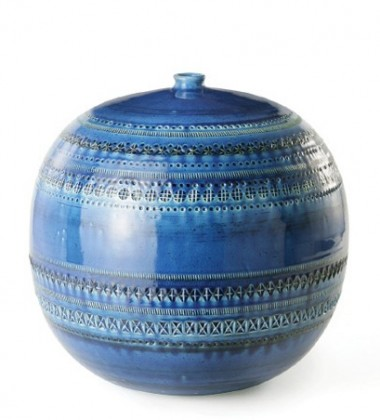 Waza Rimini Blu Vaso A Palla No 43 H23x23