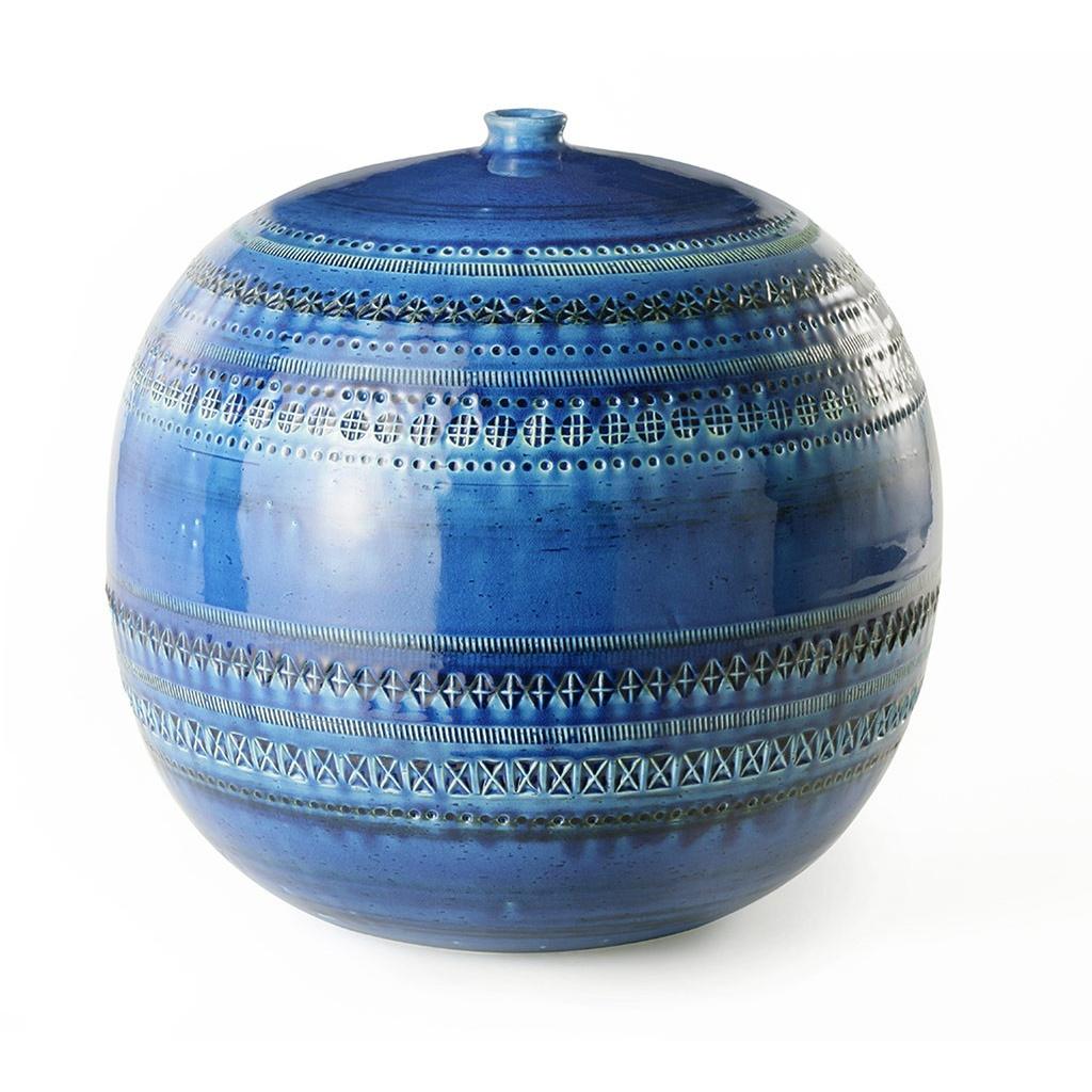 Waza rimini blu vaso a palla no 43 h23x23 for Vaso blu
