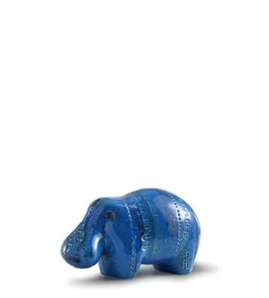 Rimini Blu Figura Ippopotamo No 122 H12x21
