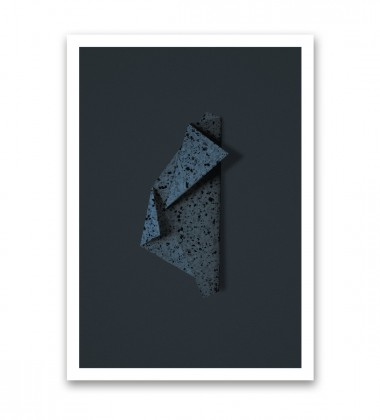 Terrazzo paper 04 Poster 50x70 Blue