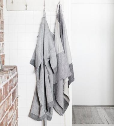 Ręcznik Terva 65x180 Biało-Muti-Szary
