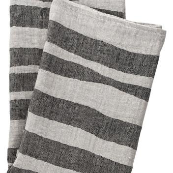 Ręcznik Twisti 48x70 Czarno-Lniany