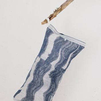 Poduszka do sauny Aallonmurtaja 20x46 Biało-Niebieska