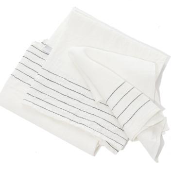 Lniany Ręcznik kąpielowy Kaste 95x180 Biało-Szary