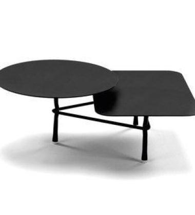 Stolik kawowy Tiers T1BB Low 60x80 Czarny 60x80 Black