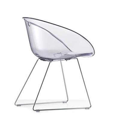 Krzesło Gliss 921 na płozach Przezroczyste