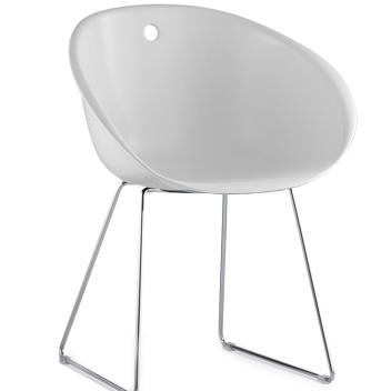Krzesło Gliss 920 na płozach Białe