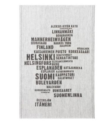 Ścierka kuchenna My Finland 46x70 Biało-Czarna