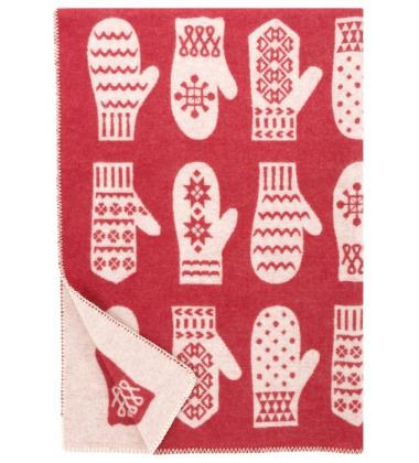 Koc Rasat Wool 90x130 Czerwono-Biały