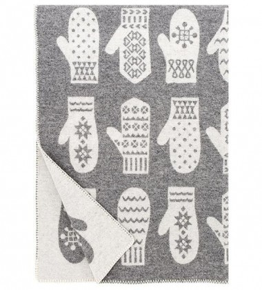 Koc Rasat Wool 90x130 Szaro-Biały
