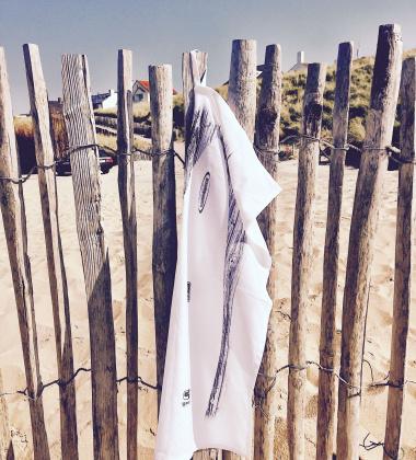 Ścierka kuchenna Surfboard 50x70 Biało-Czarna