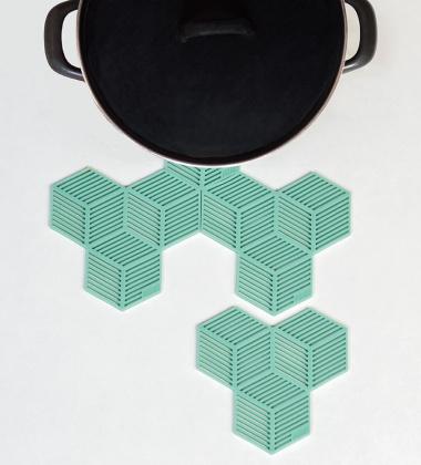 Silikonowe Podkładki Sico Set 4 Miętowe
