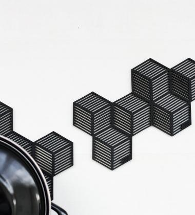 Silikonowe Podkładki Sico Set 4 Czarne